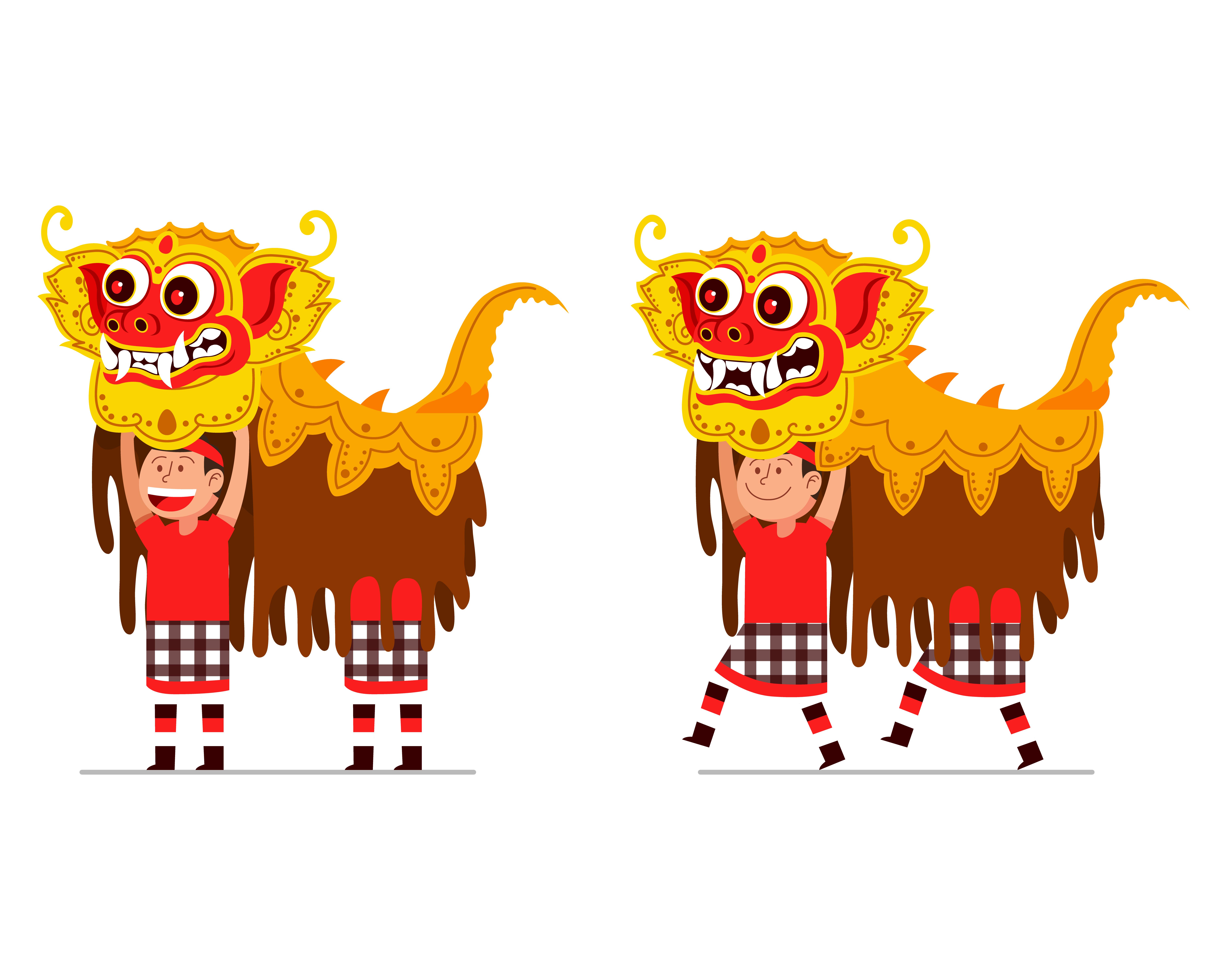 舞龍舞獅素材