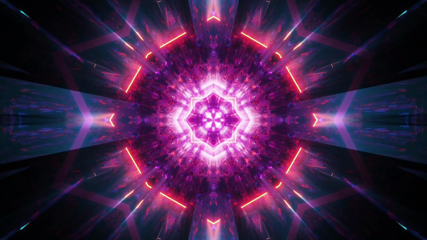 Abstract glowing holy shine 3d illustration visual background wallpaper design artwork photo