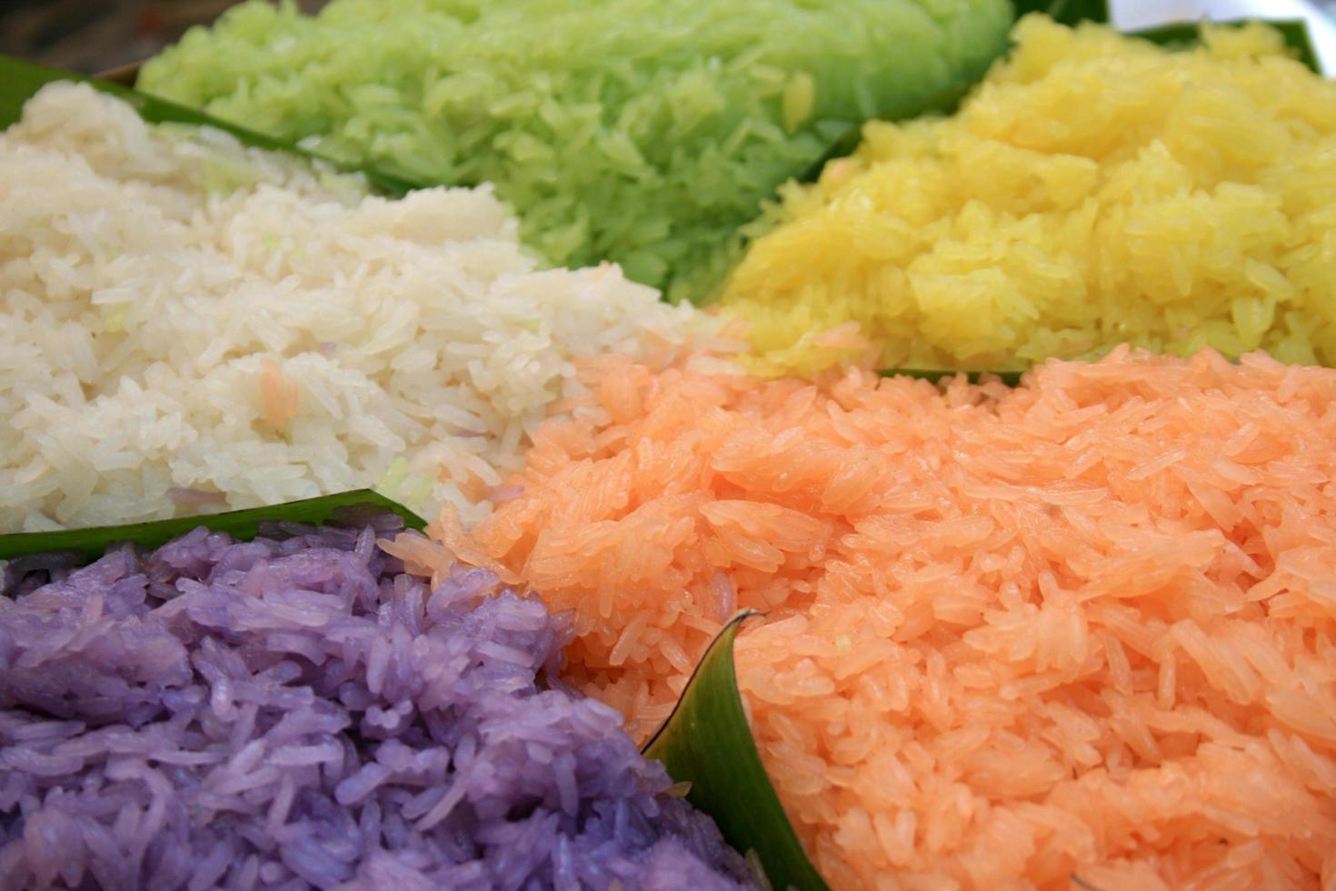 Colorful Thai dessert photo