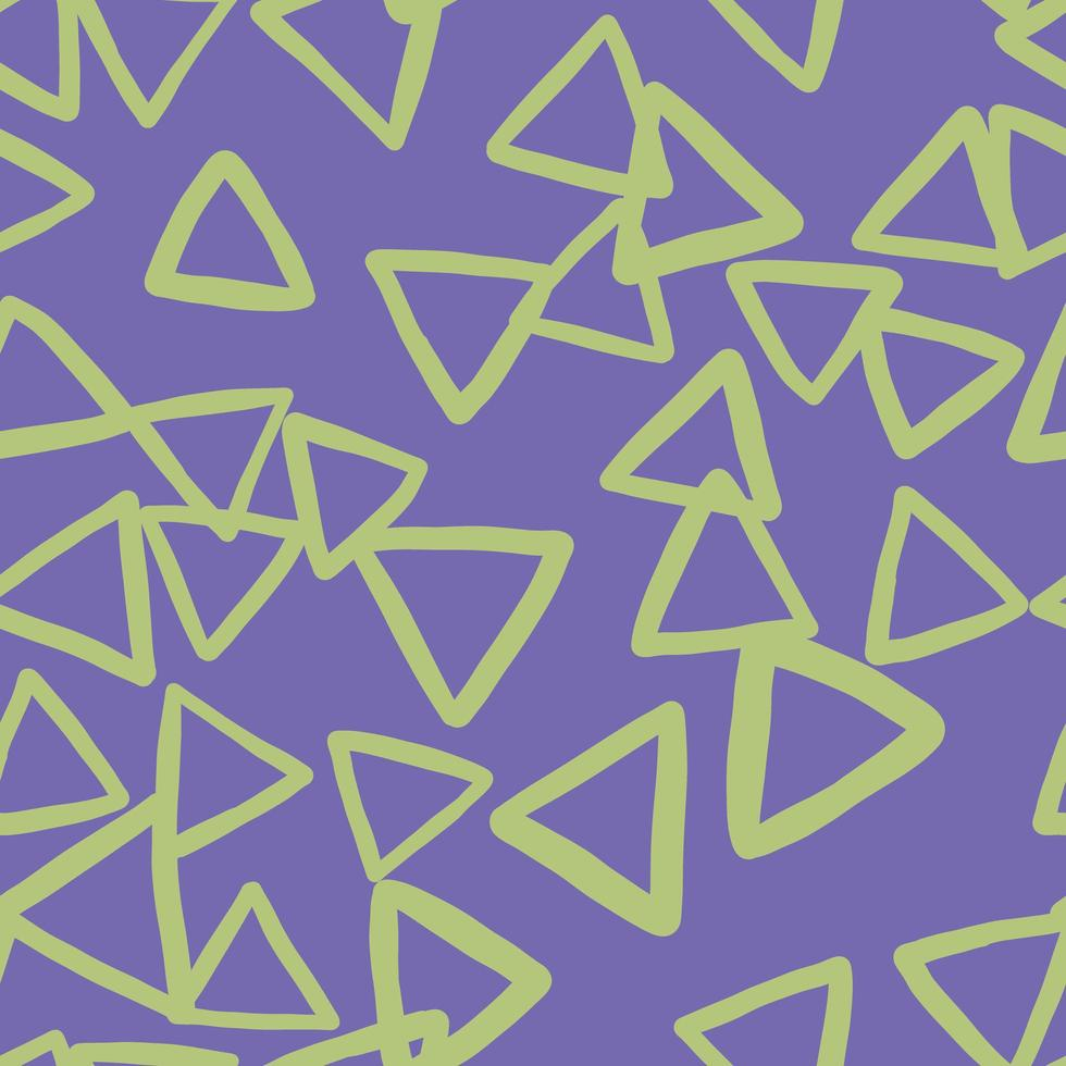 Vector seamless texture background pattern. Hand drawn, purple, green colors.