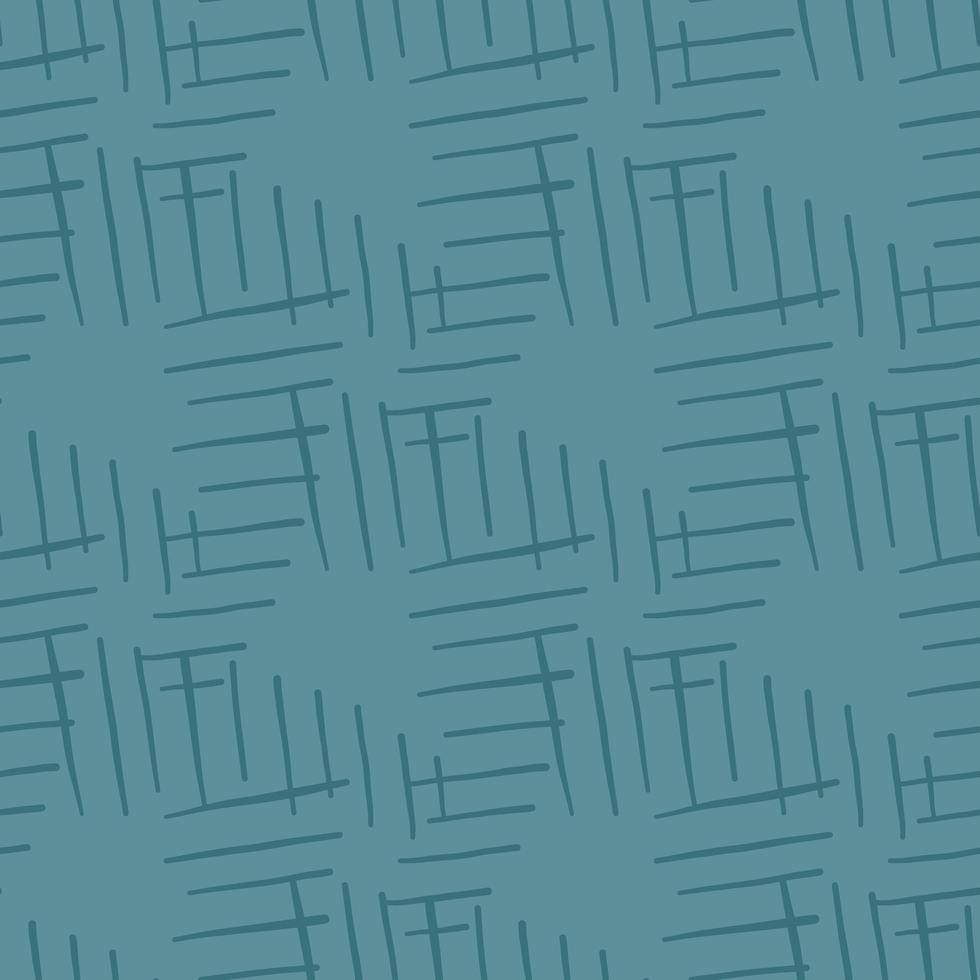 Vector seamless texture background pattern. Hand drawn, blue colors.