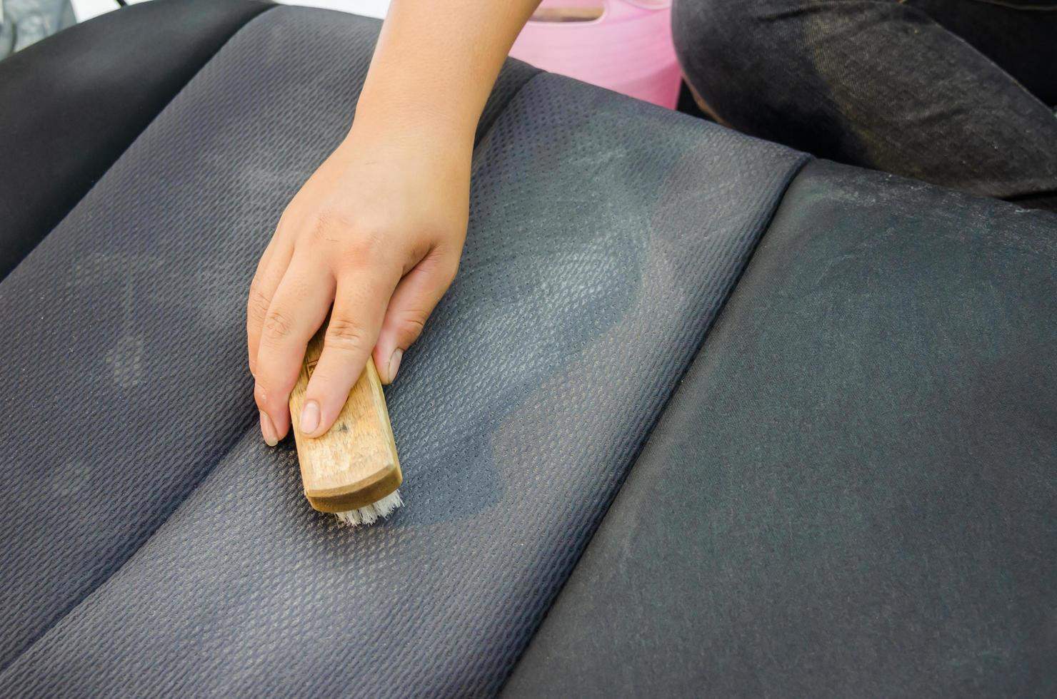 Cleaning car seats photo