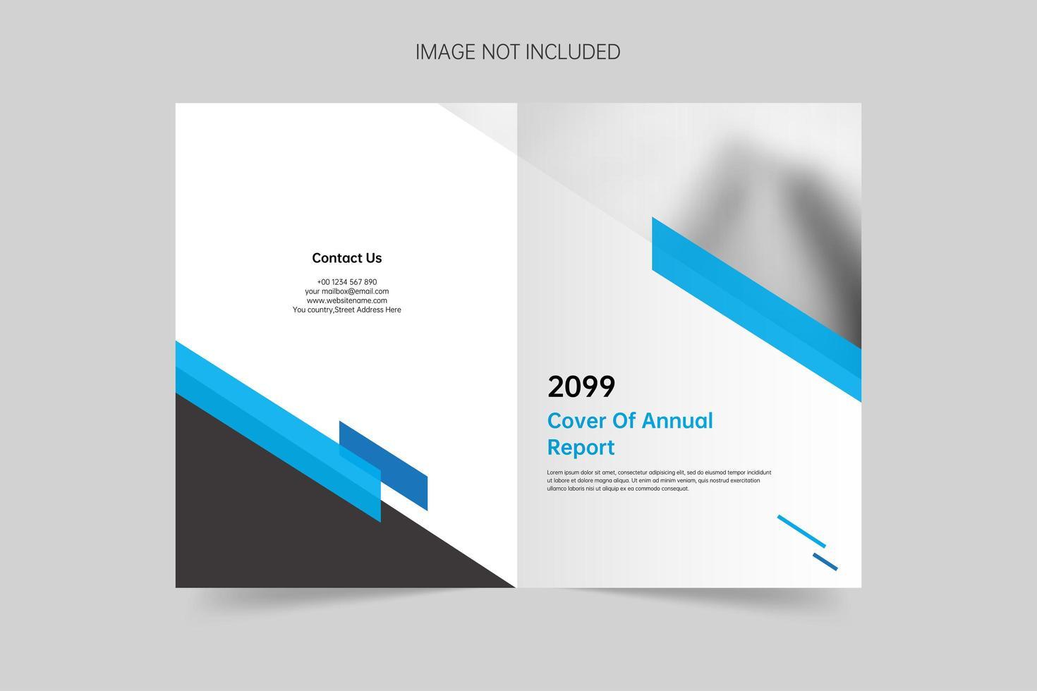 Simple geometric brochure cover template vector