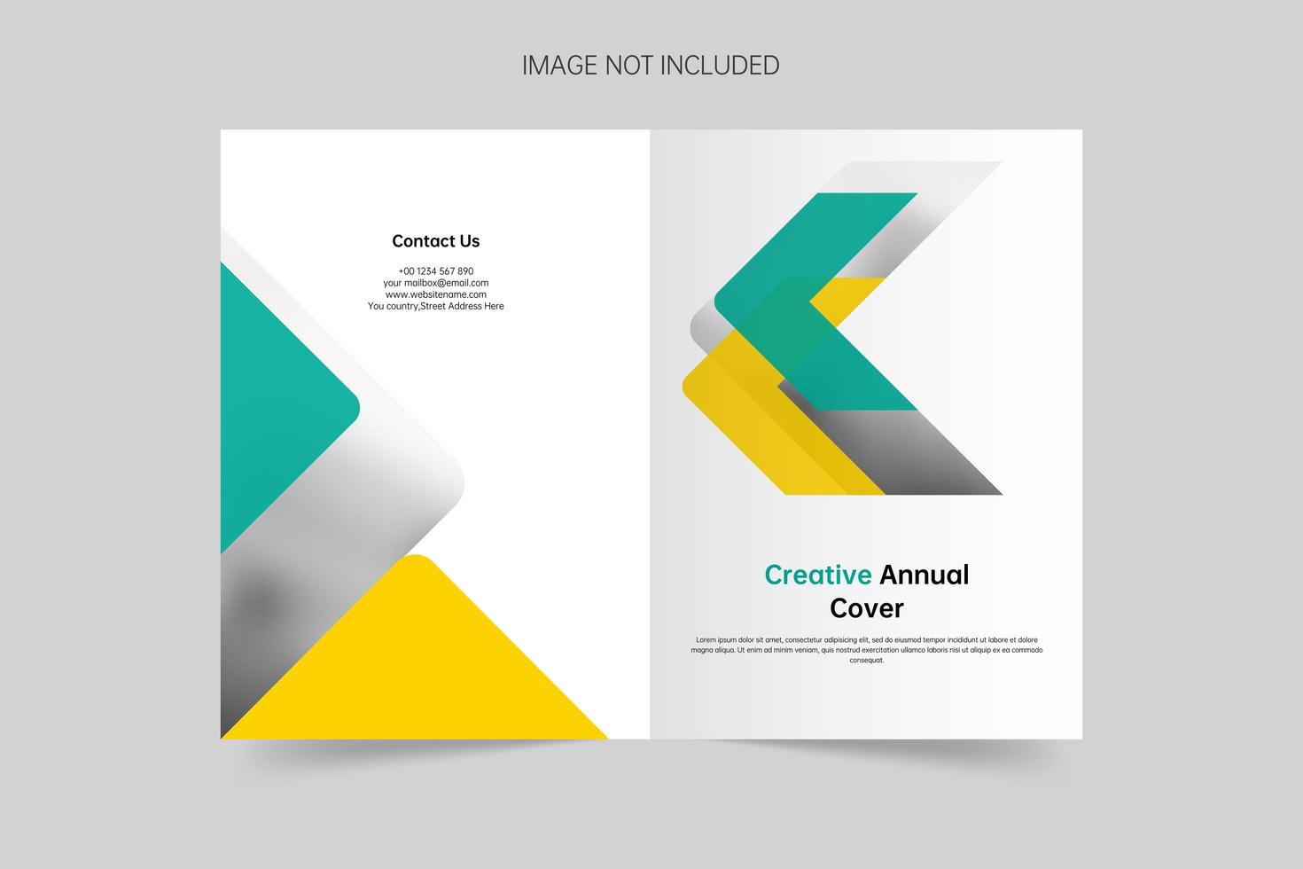 plantilla de vector de portada de empresa minimalista creativa