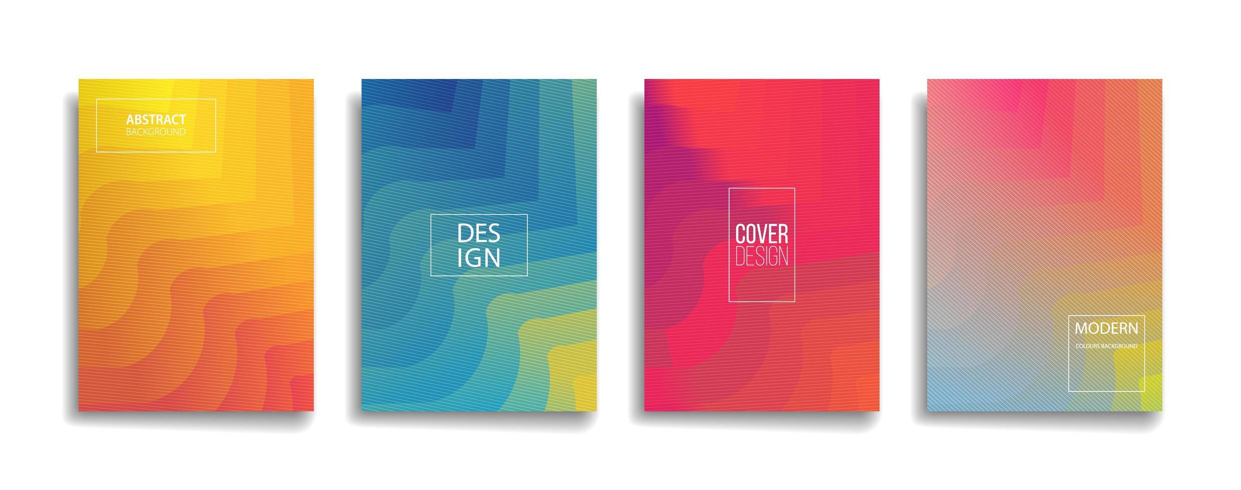 diseño de portada de fondo de patrón de línea abstracta de color degradado brillante vector