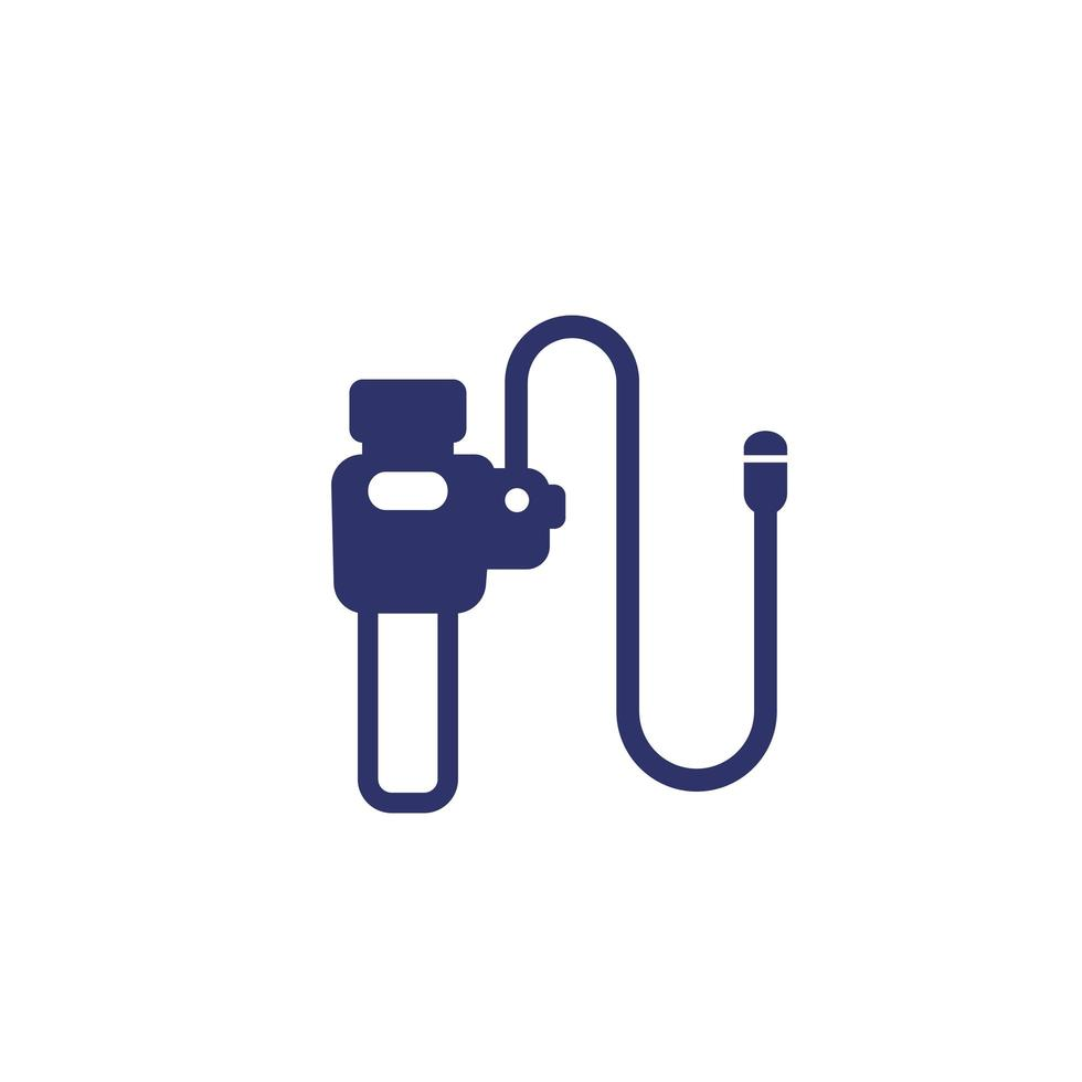 endoscope for colonoscopy, endoscopy icon vector