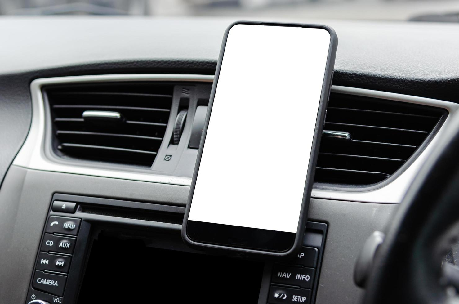 Mobile phone in car photo