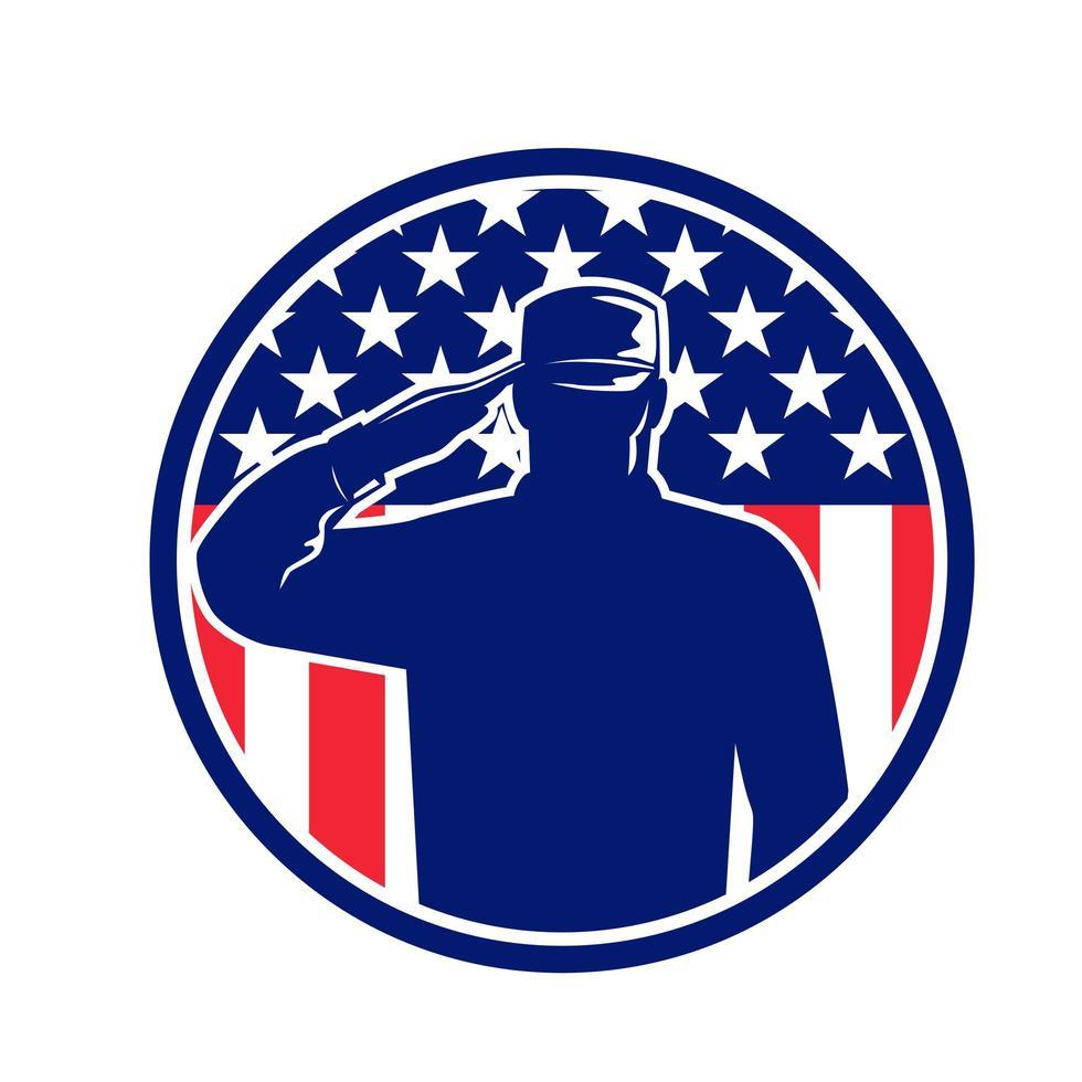 American Veteran Soldier or Military Serviceman vector