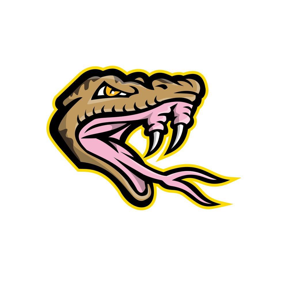 Angry Okinawa Habu Snake Head Mascot vector