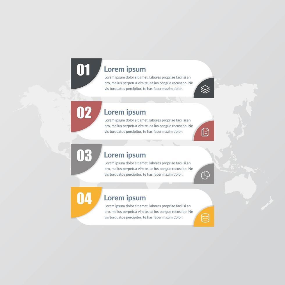diseño de vector de elemento de infografía empresarial