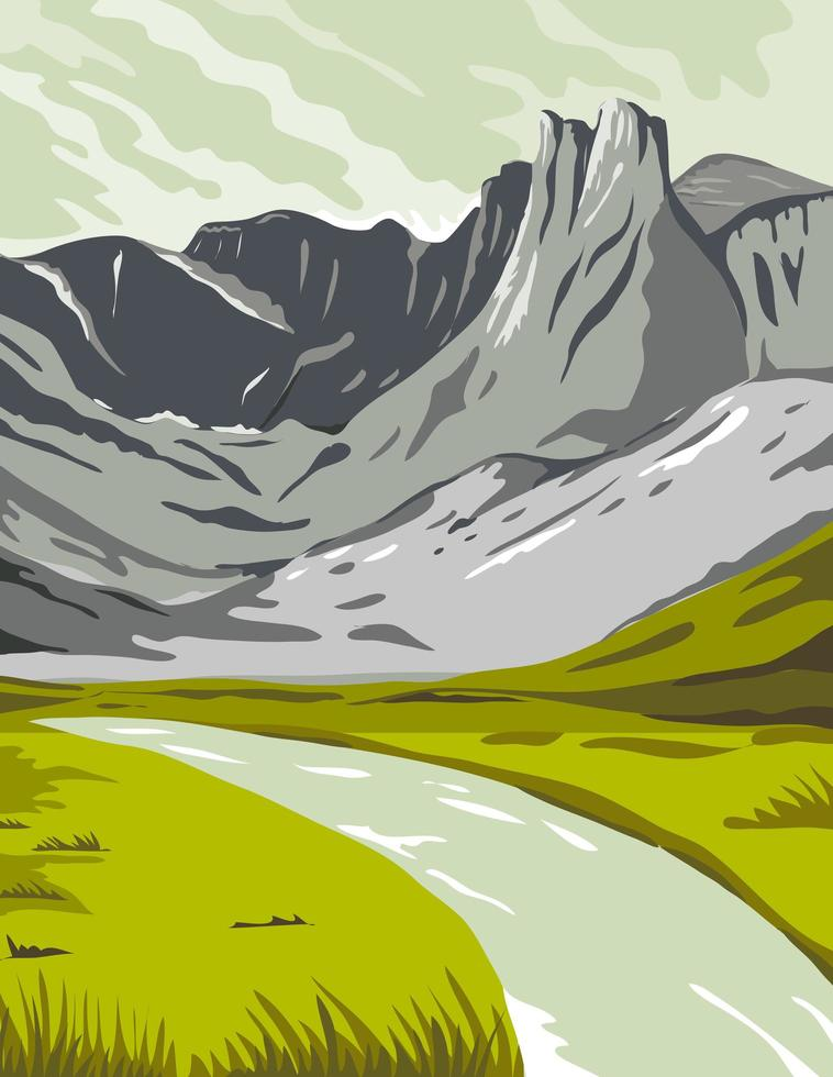 Gates of the Arctic National Park and Preserve Oolah Valley vector