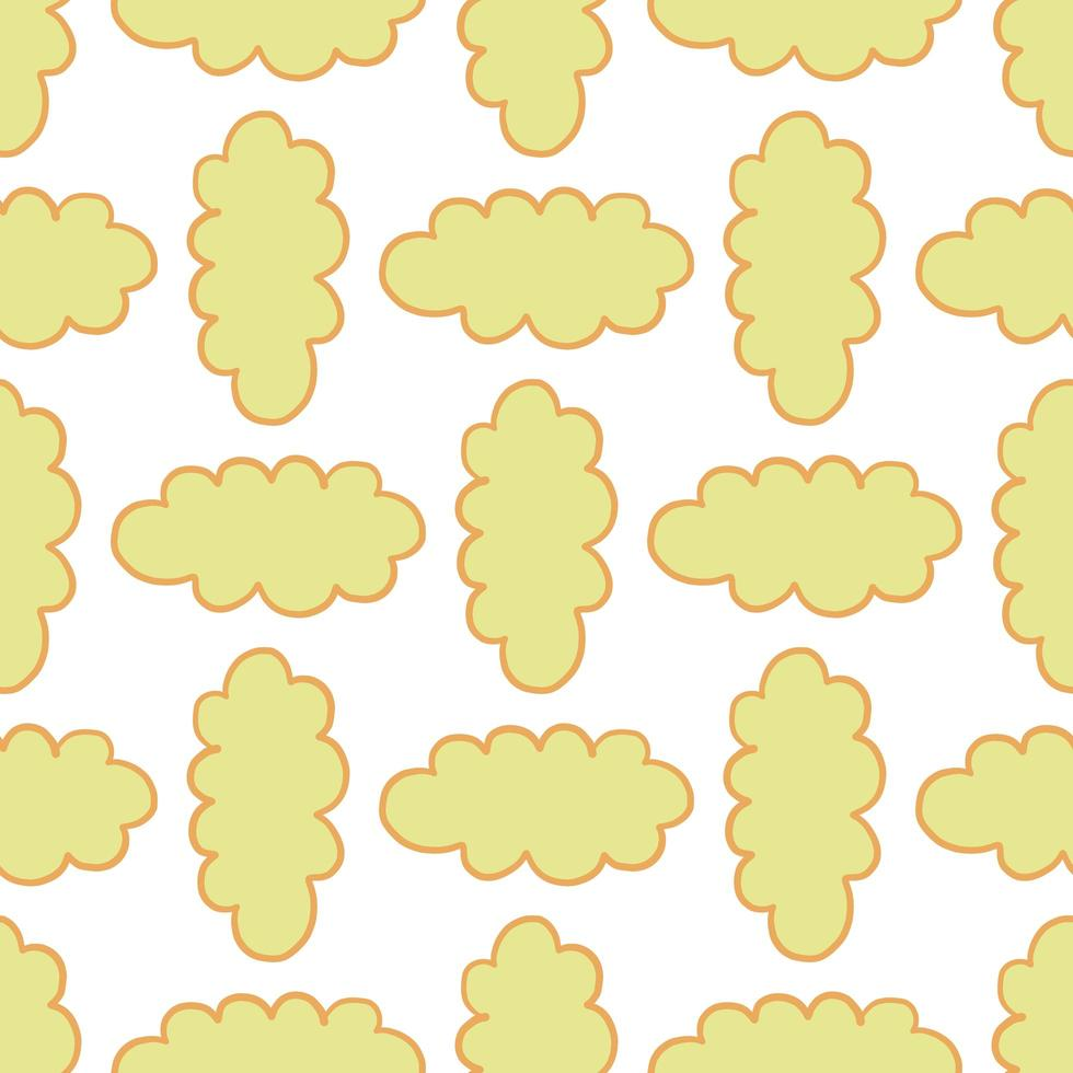 Vector seamless pattern, texture background. Hand drawn and colored