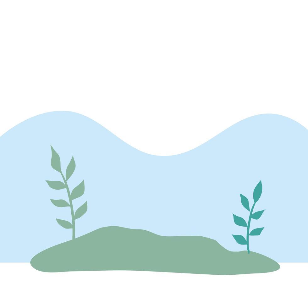 natural landscape scene isolated icon vector