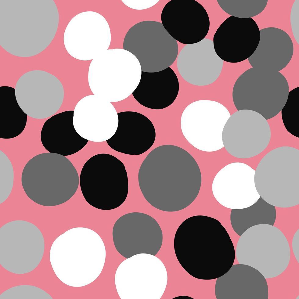 patrón de fondo de textura transparente de vector. dibujados a mano, rosa, gris, negro, colores blancos. vector