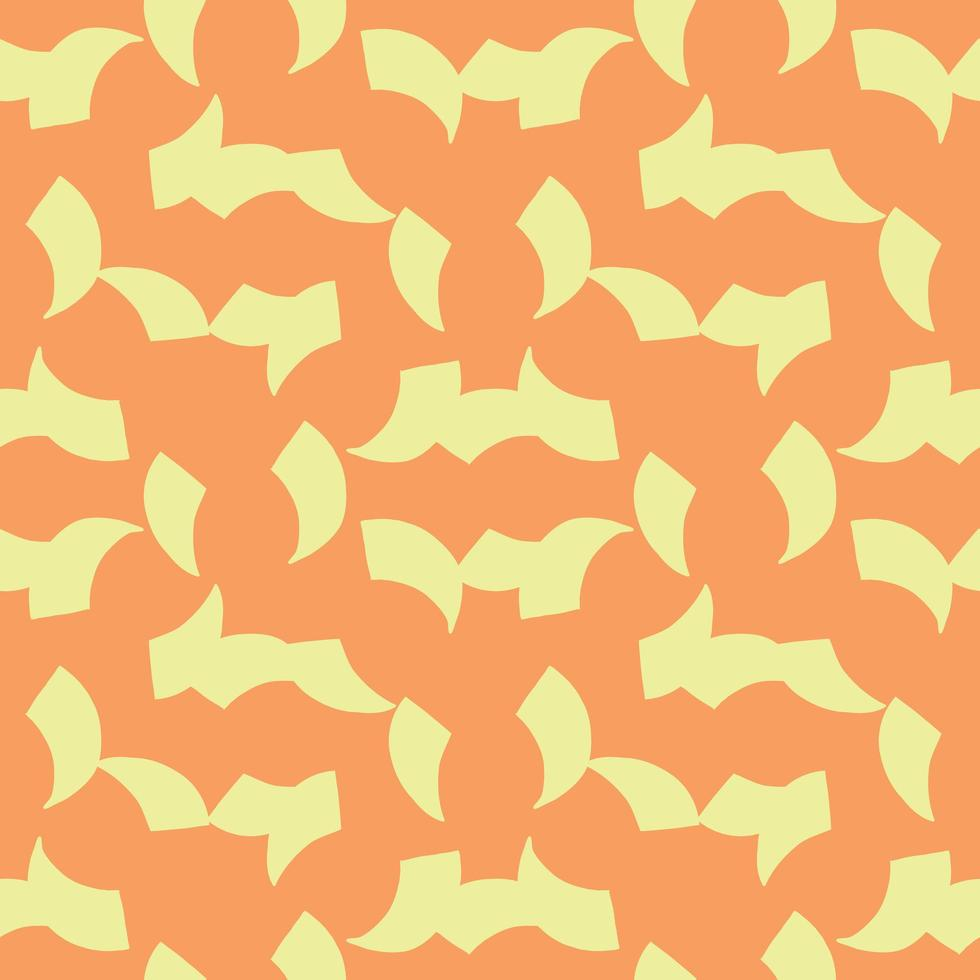 Vector seamless pattern, texture background. Hand drawn, orange, yellow colors.