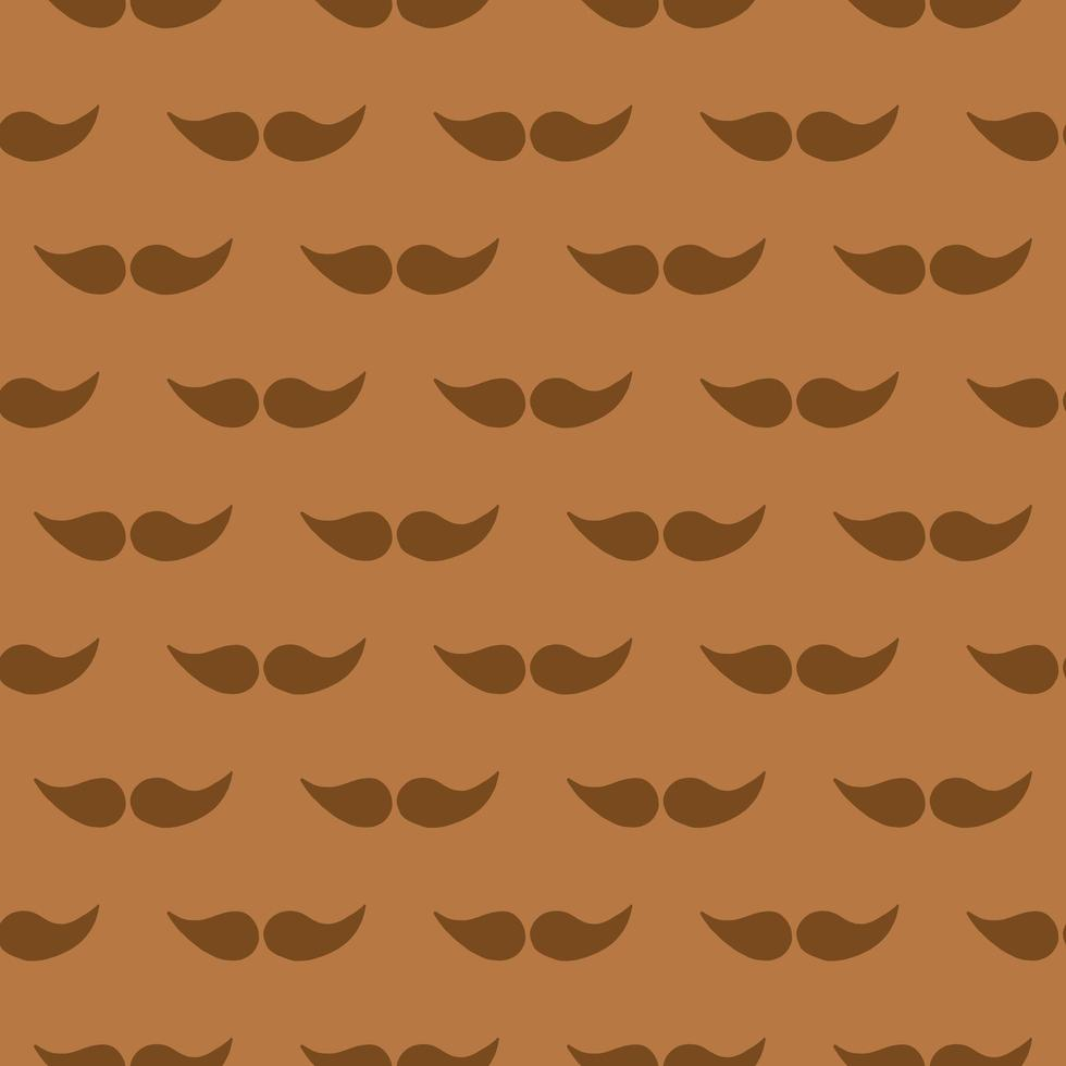 Vector seamless texture background pattern. Hand drawn, brown, orange colors.