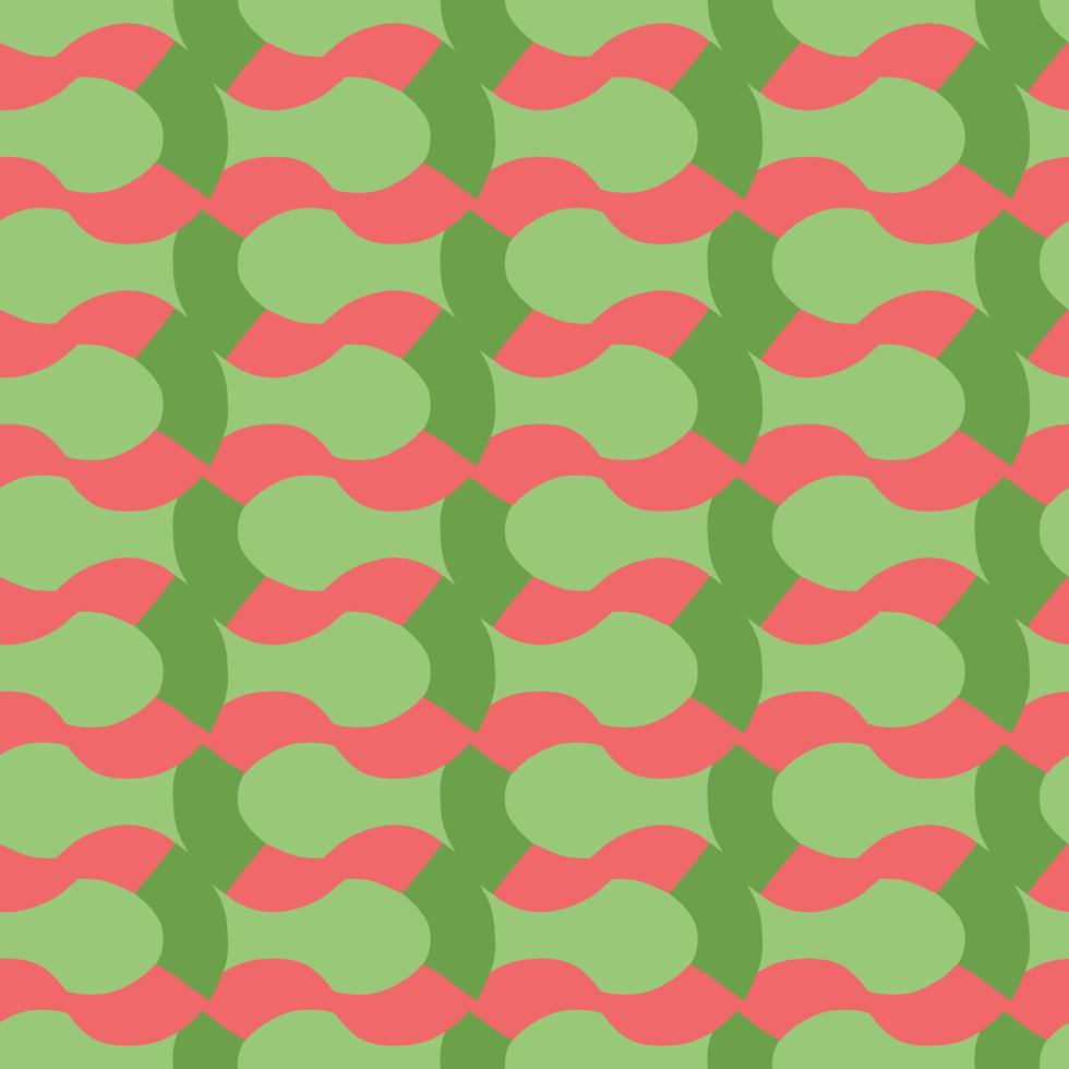 Vector seamless pattern, texture background. Hand drawn, red, green colors.