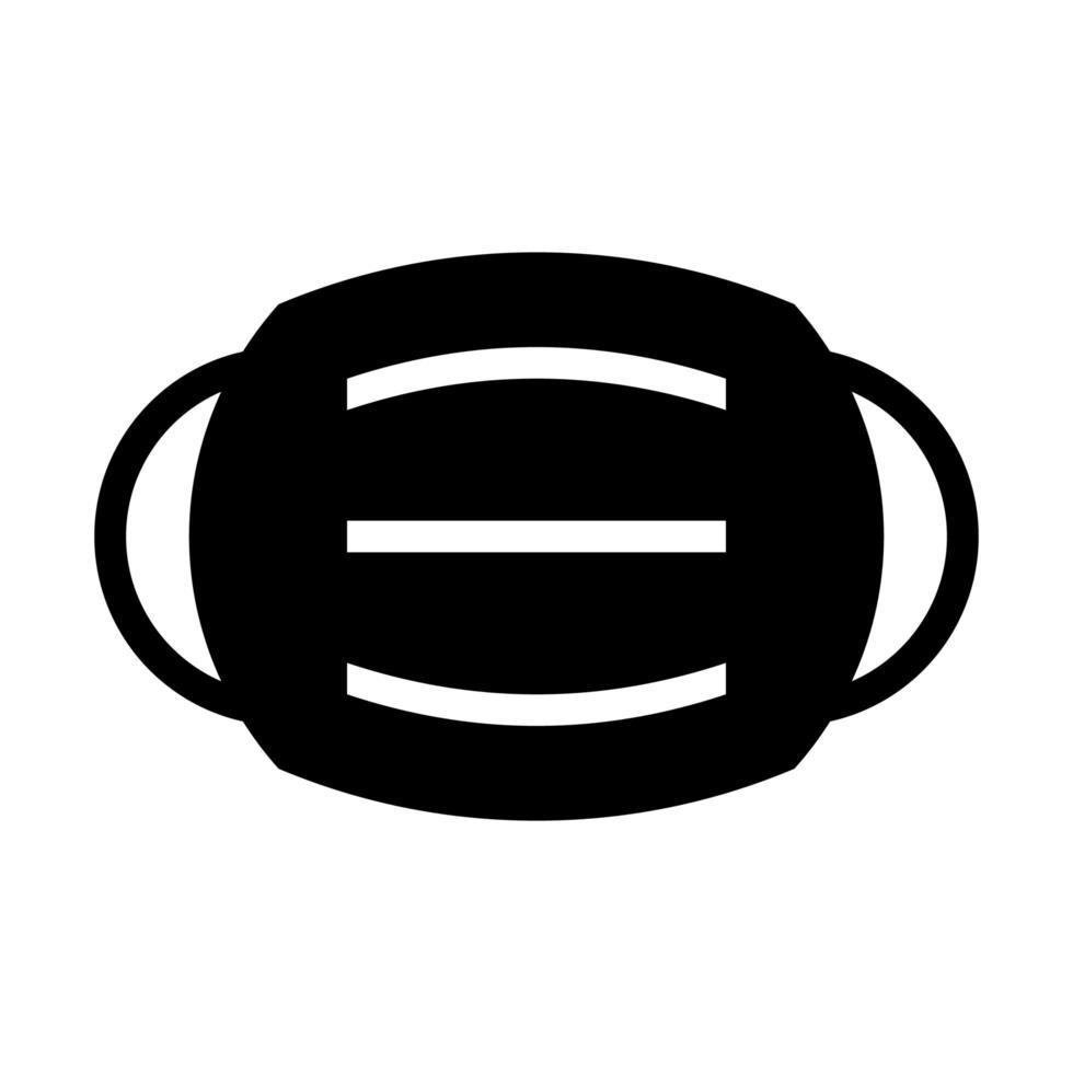 Medical mask symbol vector
