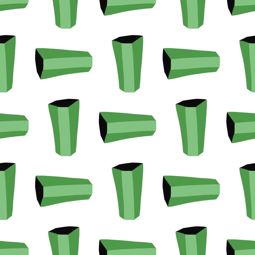 Vector seamless texture background pattern. Hand drawn, green, white, black colors.