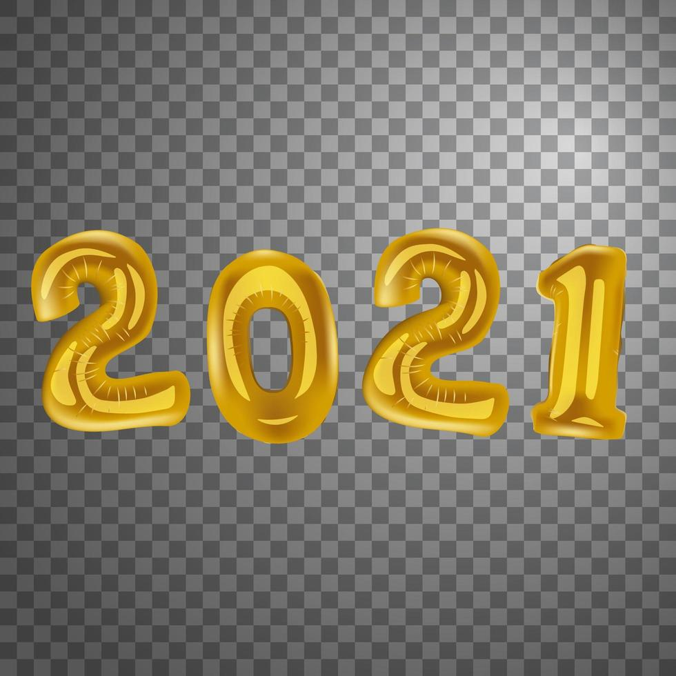 New Year 2021 balloons vector