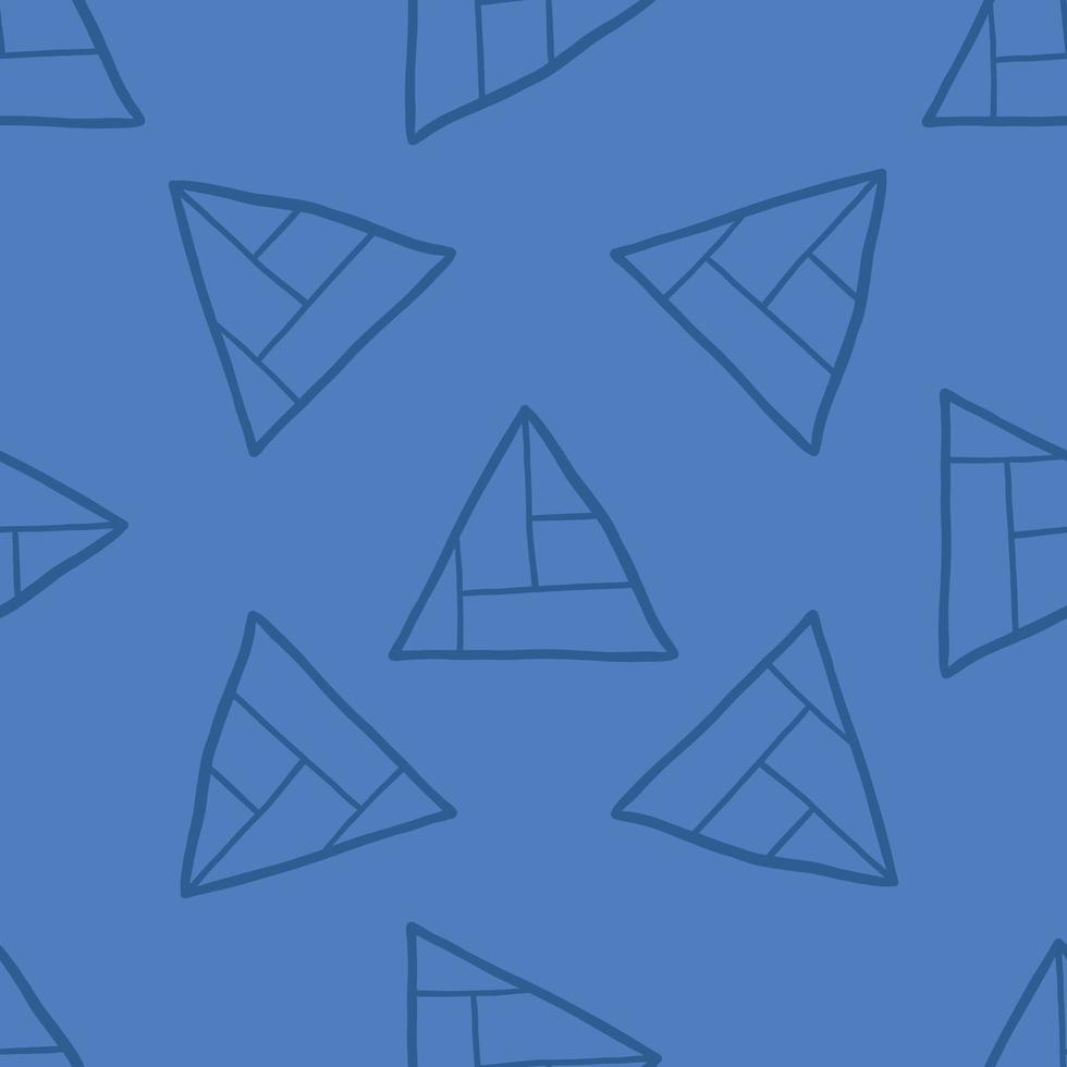 Vector seamless pattern, texture background. Hand drawn, blue colors.