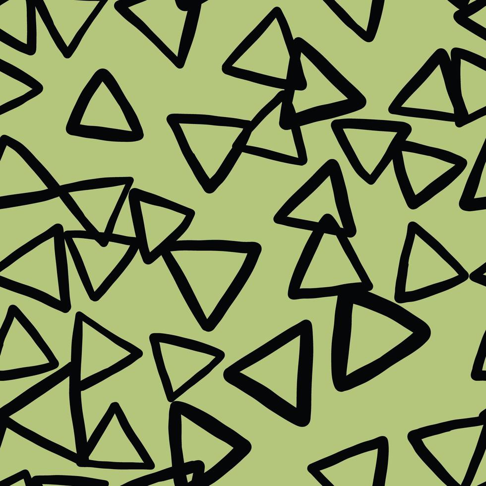 patrón de fondo de textura transparente de vector. dibujados a mano, verde, colores negros. vector