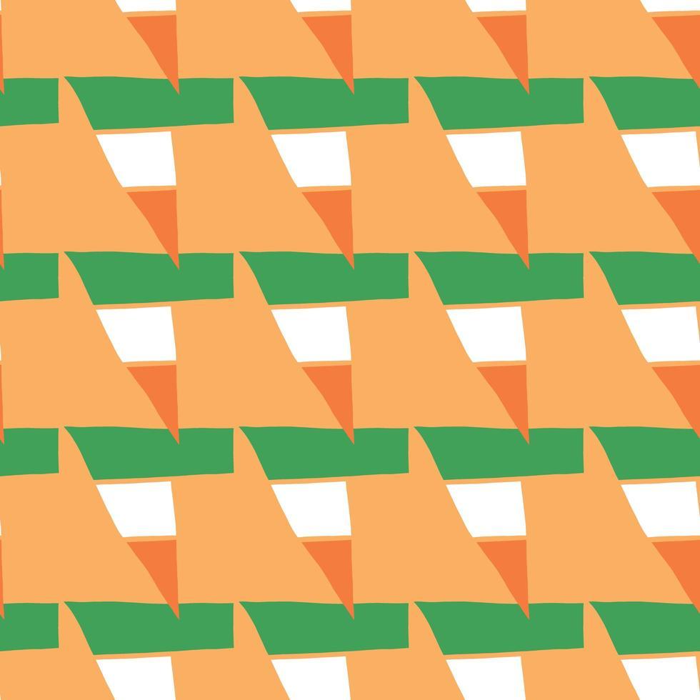 patrón de fondo de textura transparente de vector. dibujados a mano, naranja, verde, colores blancos. vector