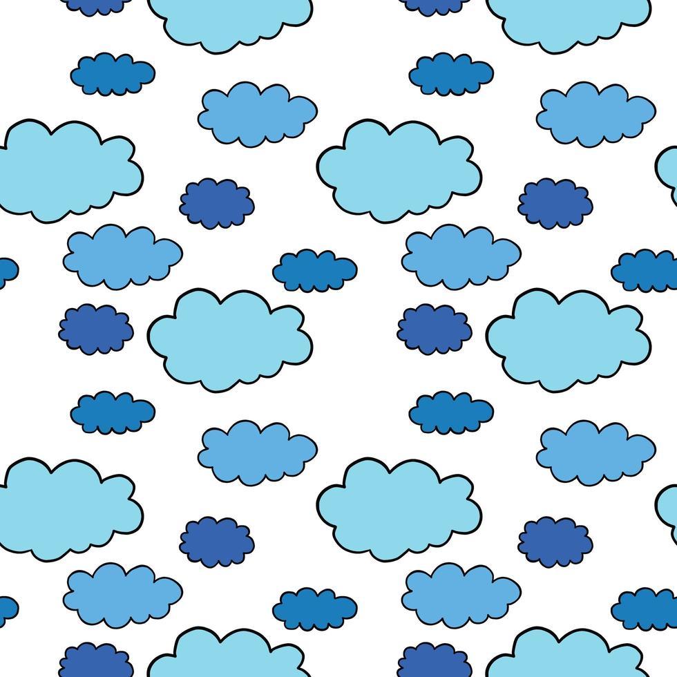 patrón de fondo de textura transparente de vector. dibujados a mano, azul, negro, colores blancos. vector