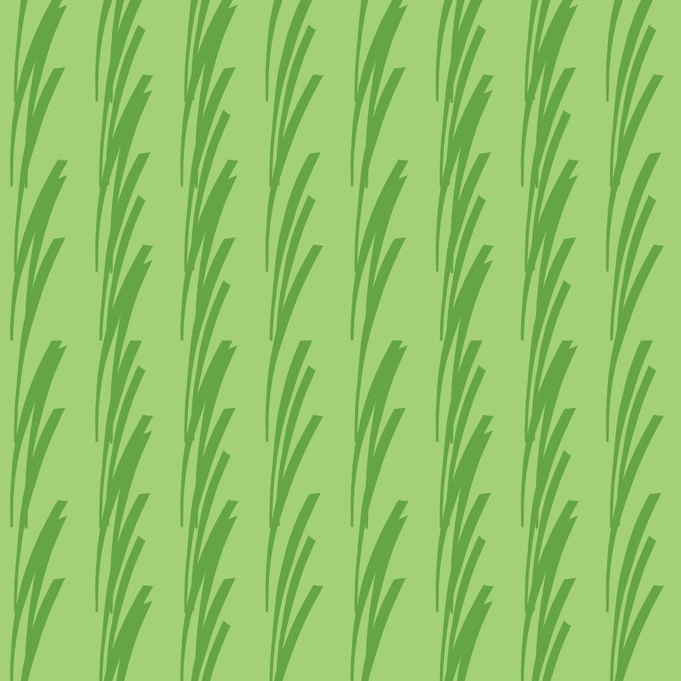 Vector seamless texture background pattern. Hand drawn, green colors.
