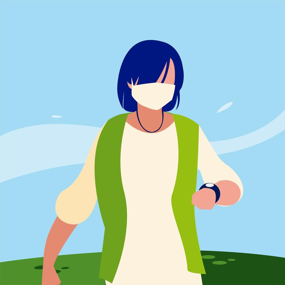 avatar de hombre con máscara fuera de diseño vectorial vector