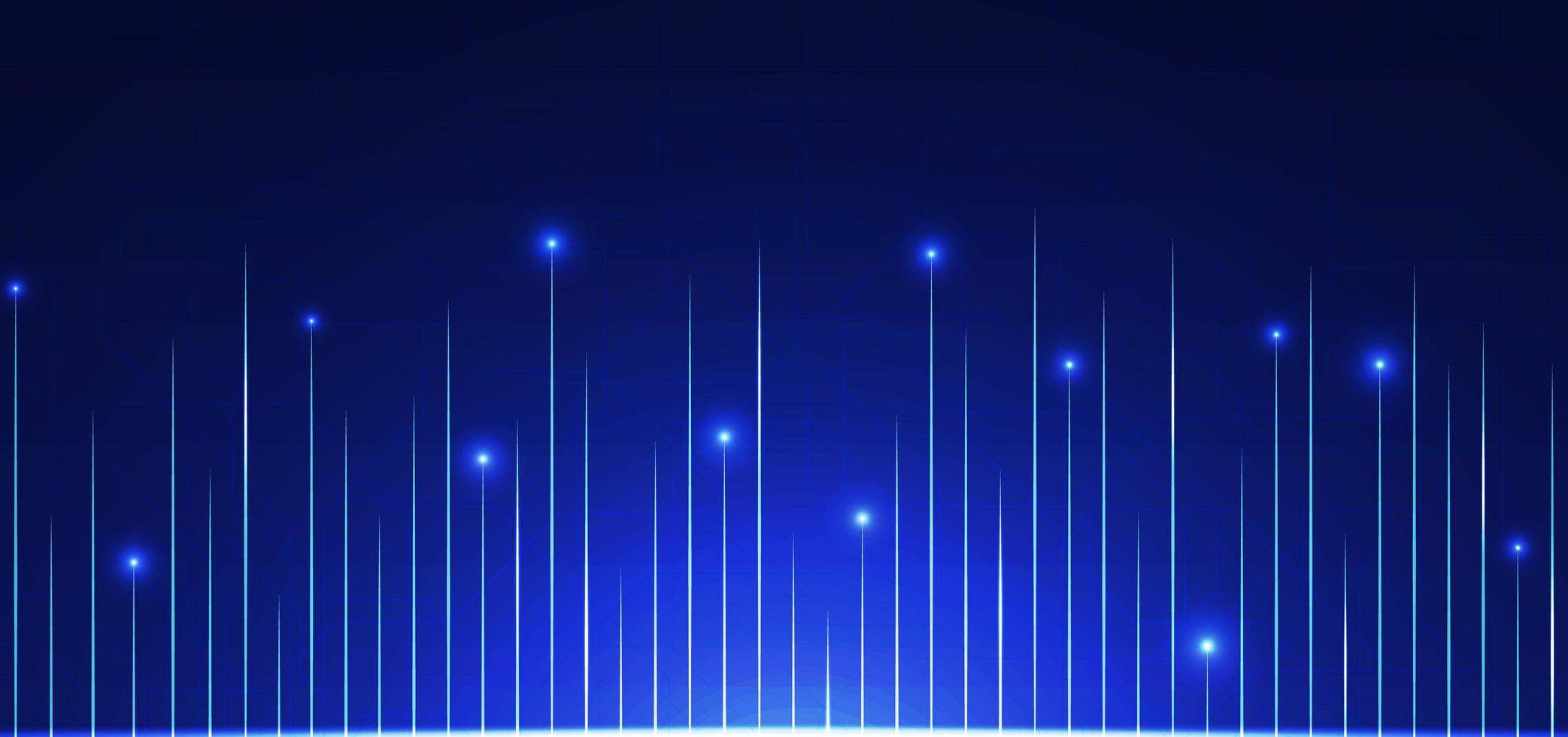 Technology background line pattern design glow light vector