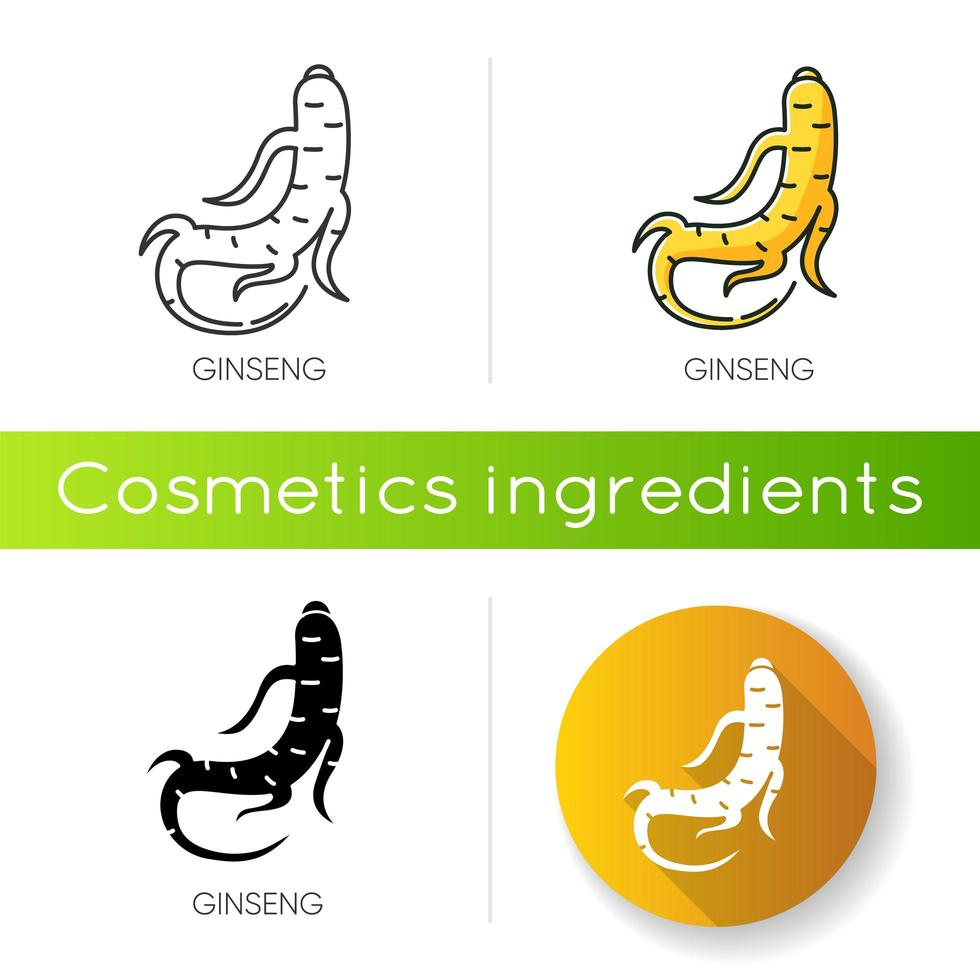Ginseng icon. Herbal root. vector