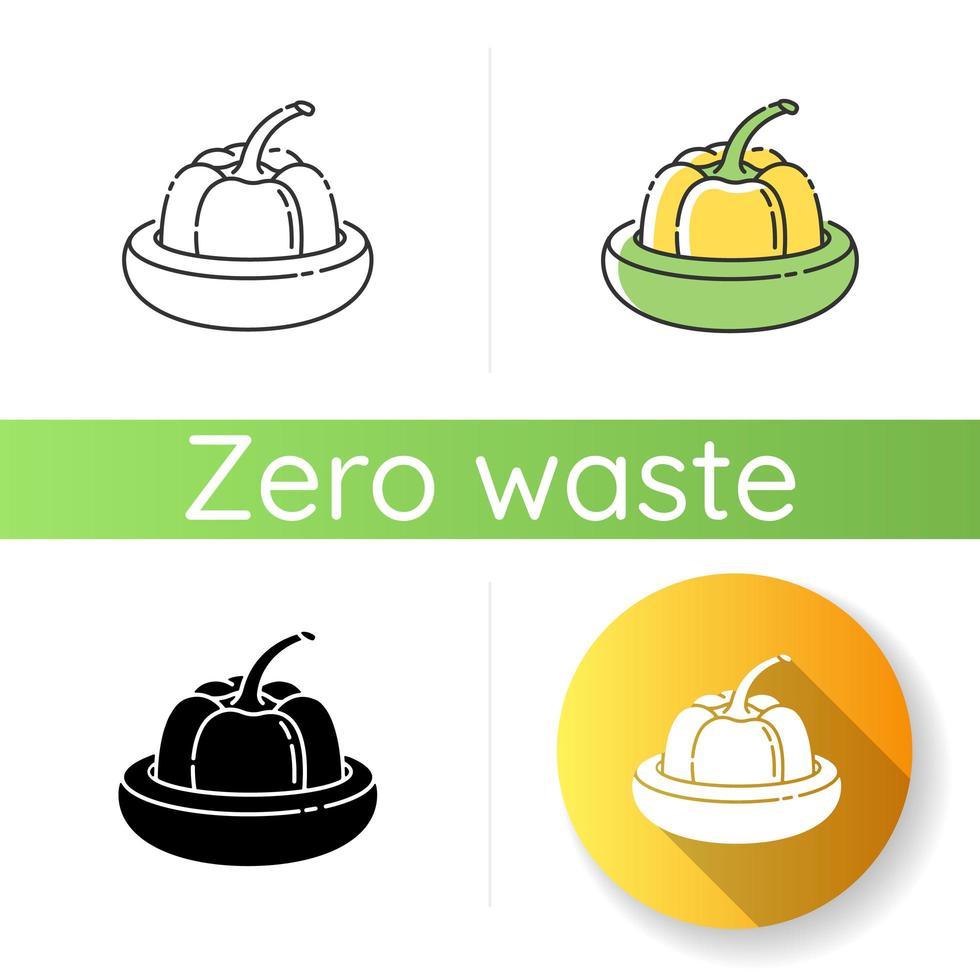 Reusable food saver icon vector