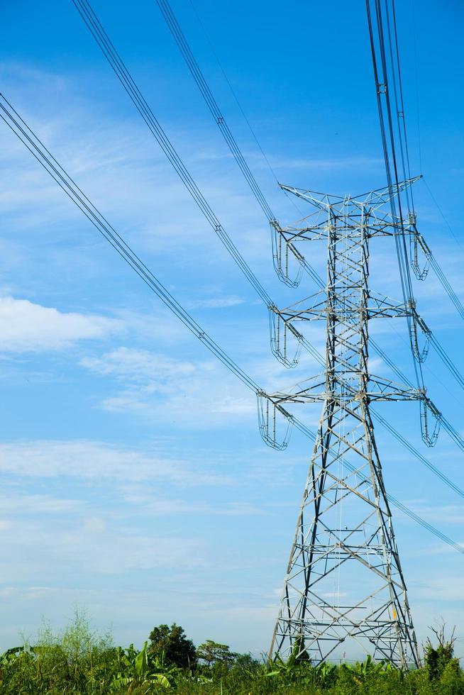 High voltage tower in Thailand photo