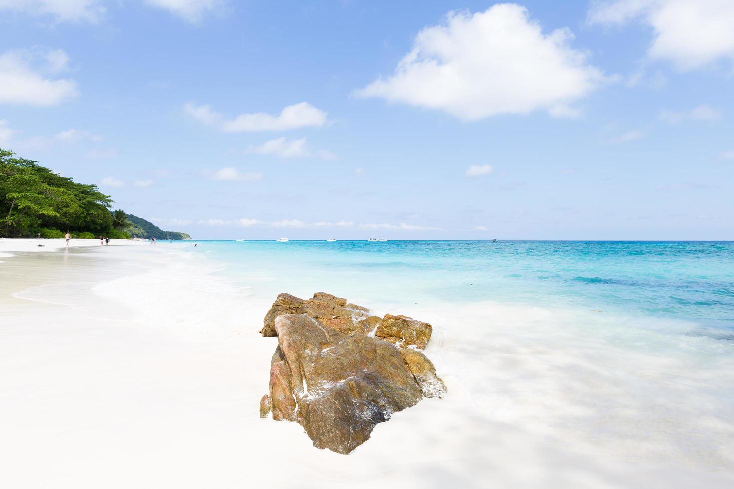 The sea at Phuket in Thailand photo