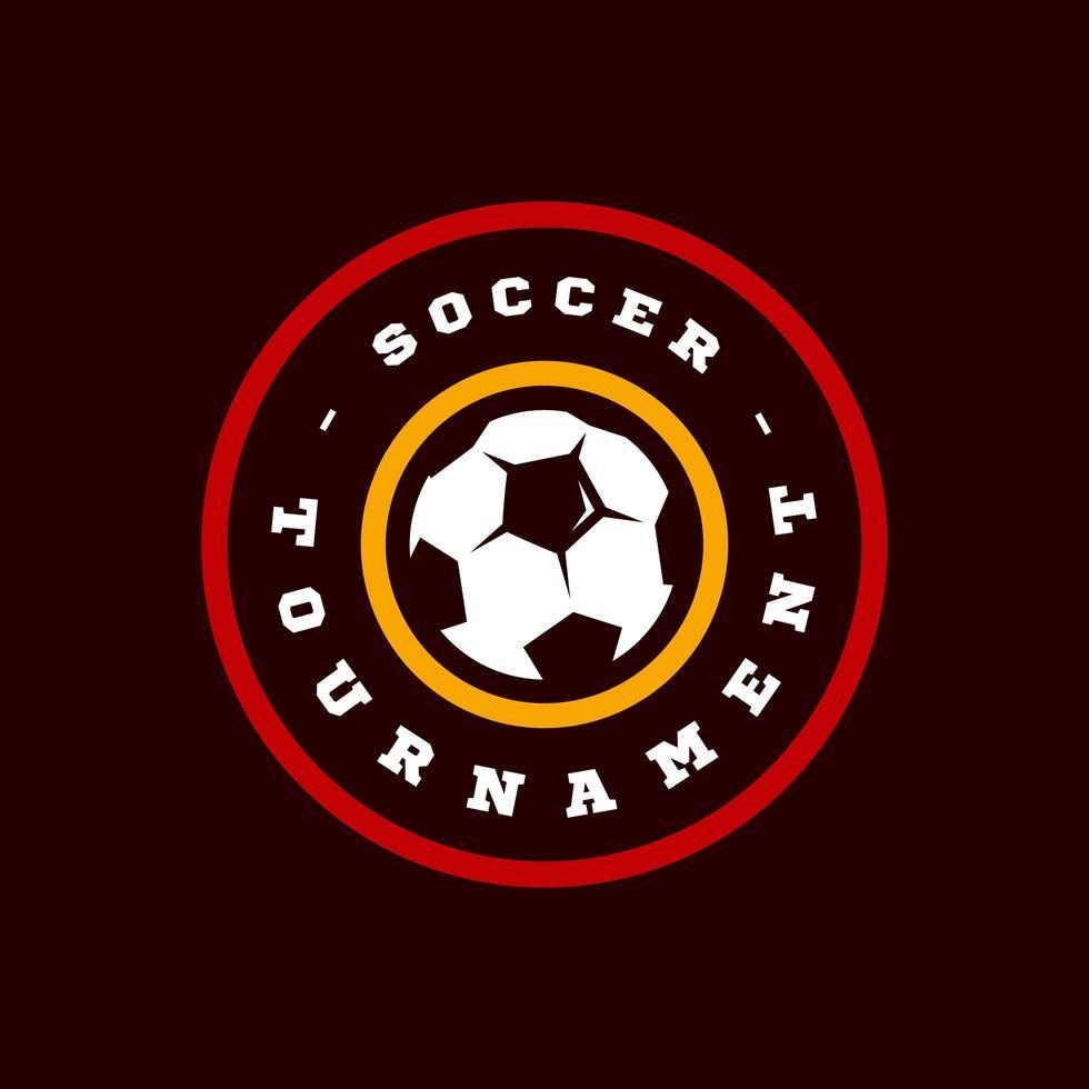 tipografía de deporte profesional moderno de fútbol o fútbol en estilo retro. emblema de diseño vectorial, insignia y diseño de logotipo de plantilla deportiva vector