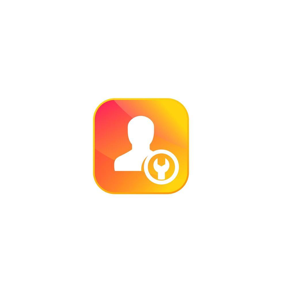 cuenta, icono de configuración de perfil para aplicación o web vector