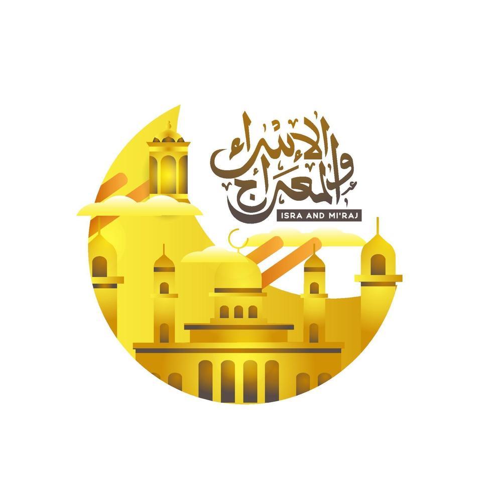 vector de diseño de banner de al isra wal miraj