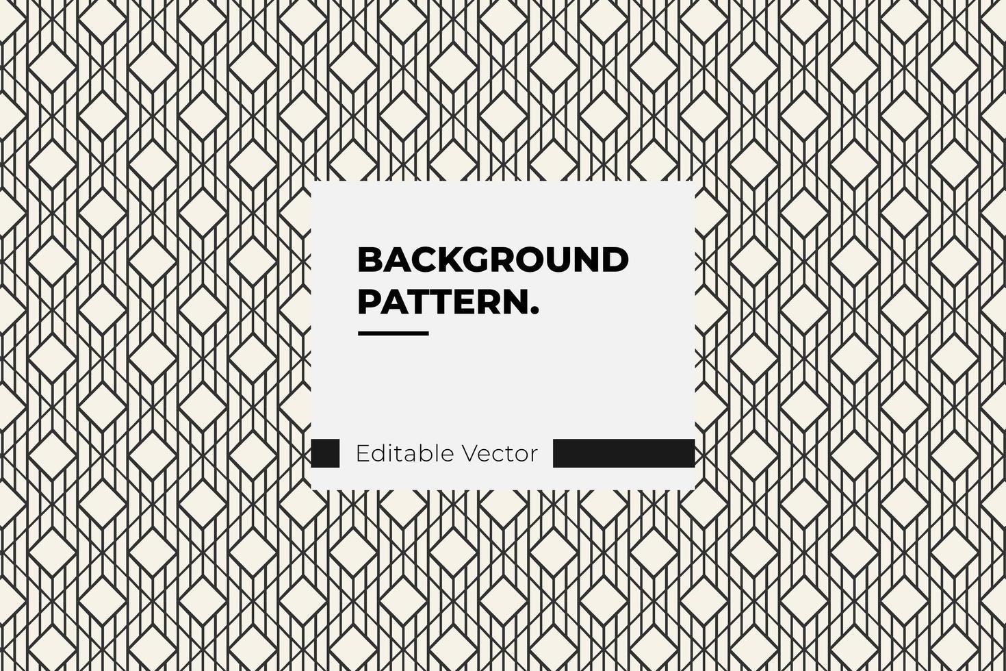 patrón de línea de diamante vector