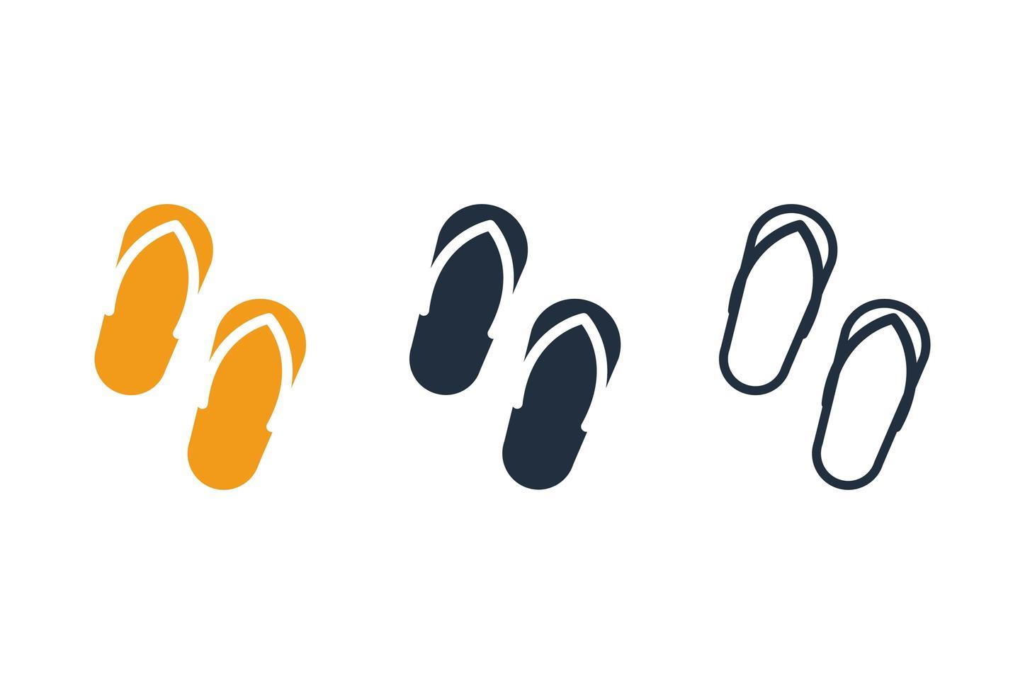 conjunto de conjunto de iconos de zapatillas vector