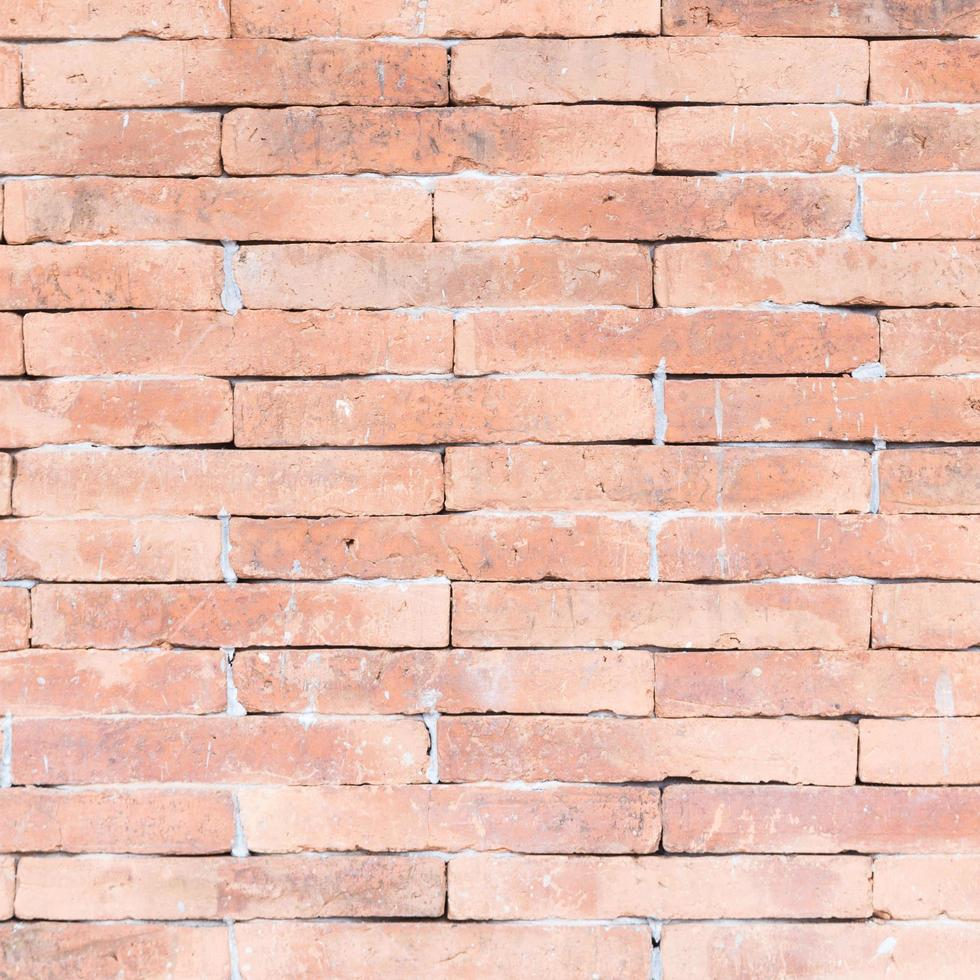 fondo de pared de ladrillo rojo foto