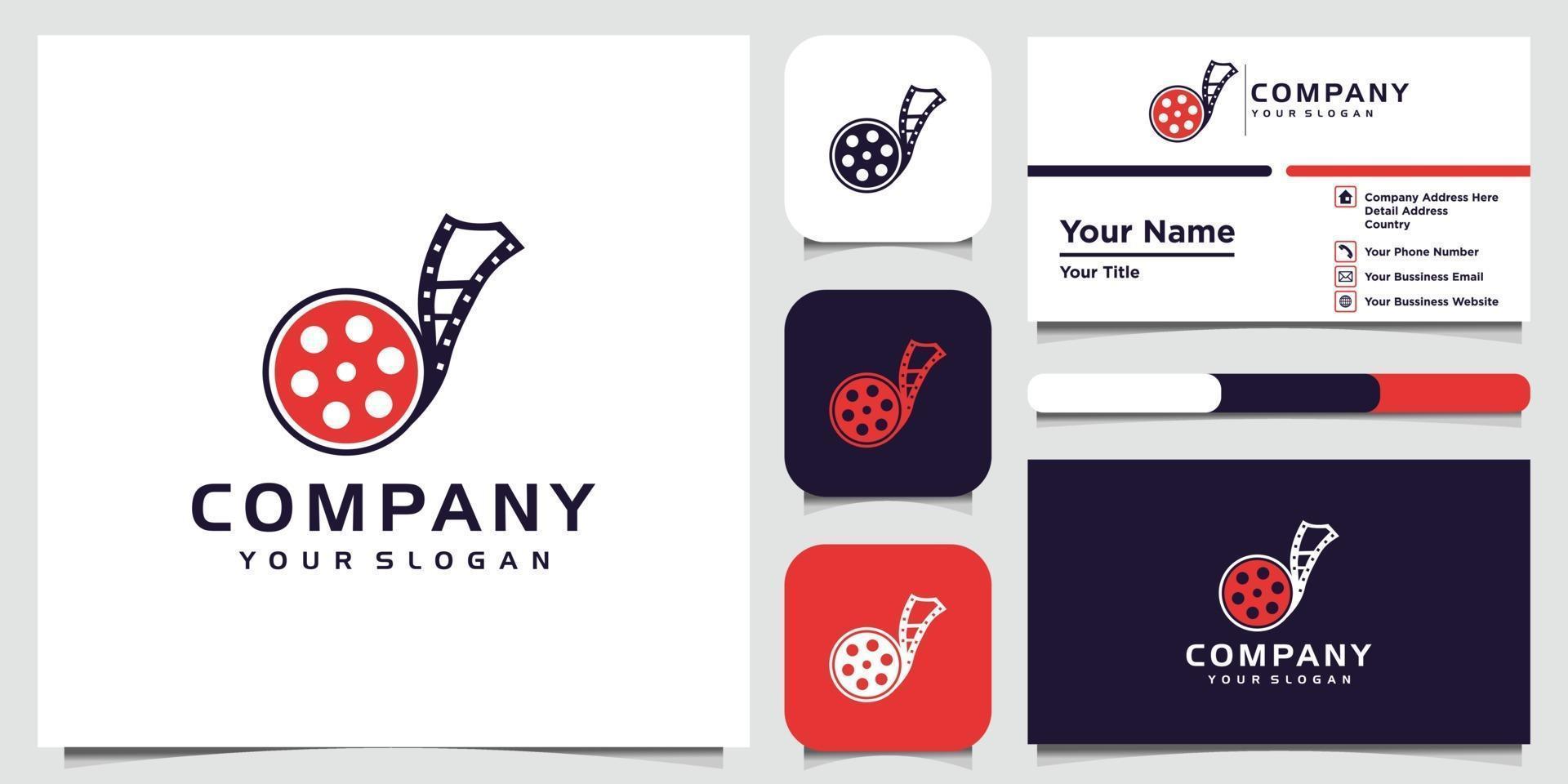 Plantillas de diseño de logotipos de fotografía y tarjetas de visita. vector