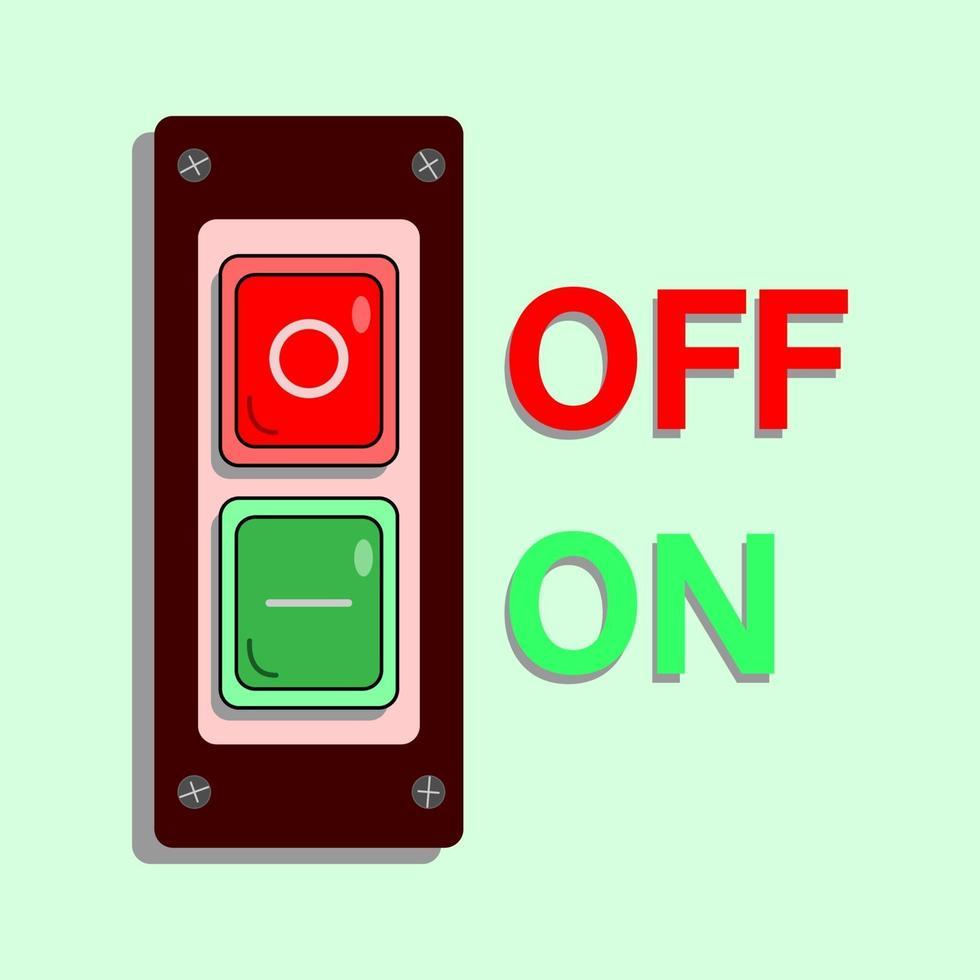 botón de encendido para encender y apagar vector