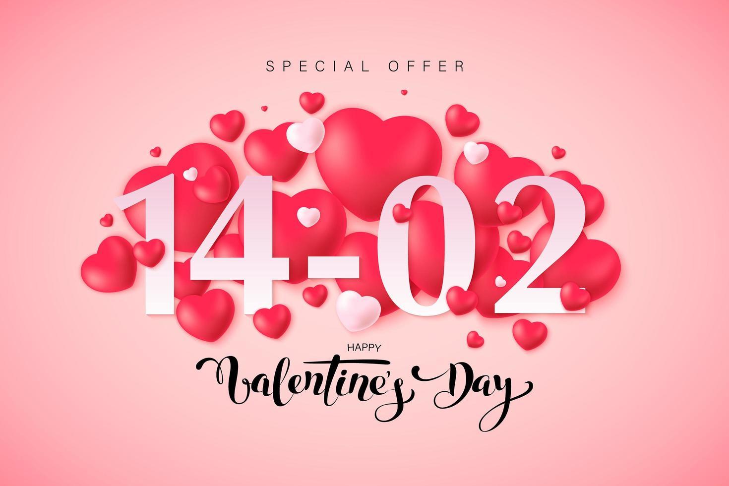 Happy Valentine's Day greeting card design vector