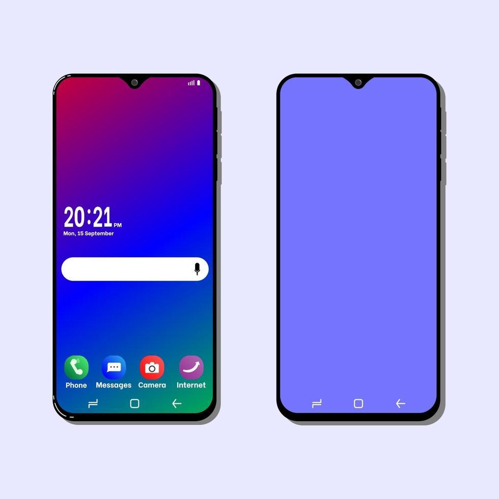 New mobile phone simple art vector illlustration