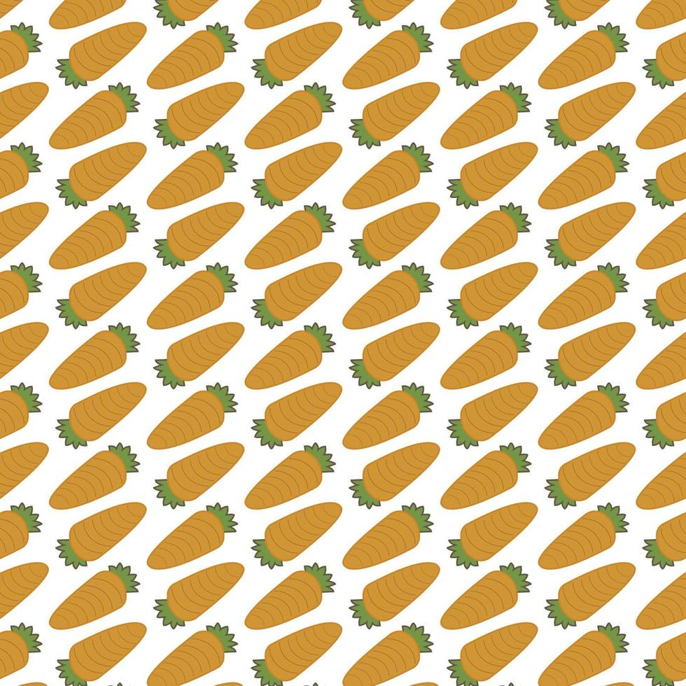 Seamless pattern of carrots vector