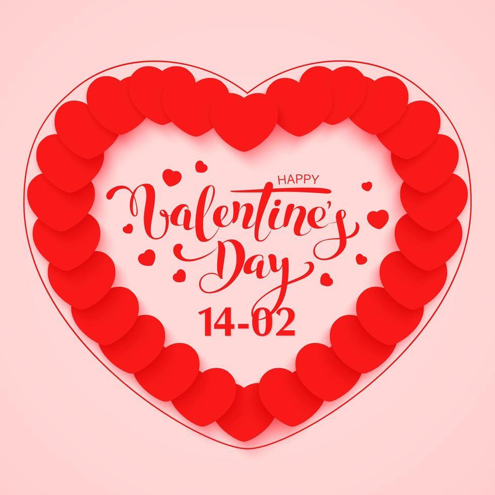 diseño de tarjeta de felicitación feliz día de san valentín vector