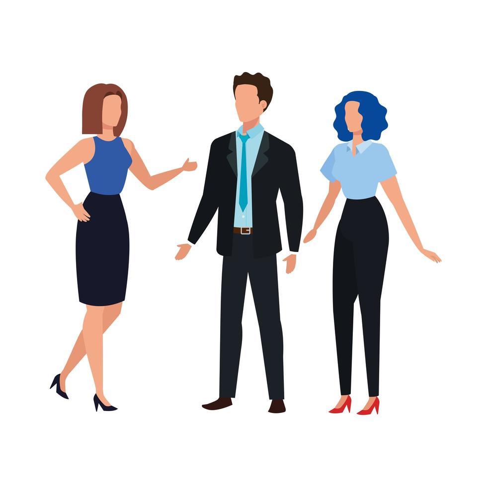 gente de negocios elegante personaje avatar vector