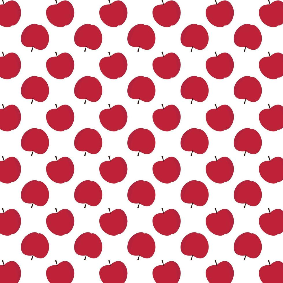 Red apples pattern vector