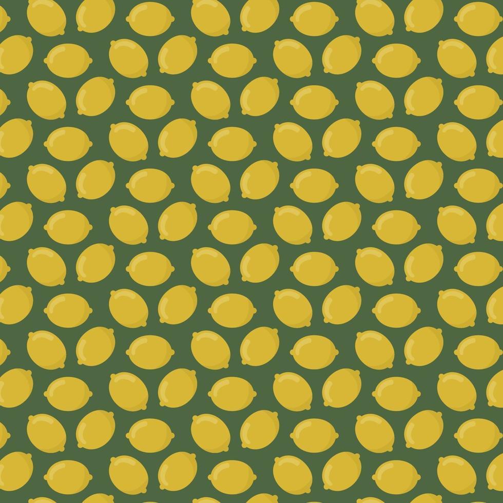 Yellow lemons pattern vector